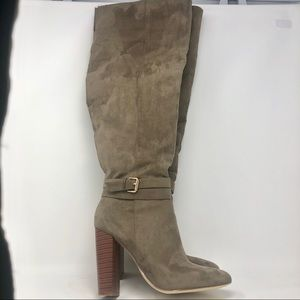 Just Fab Knee-High Suede Boots